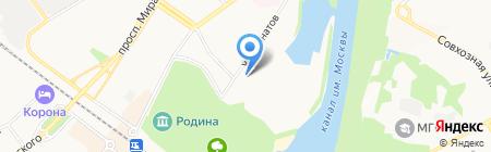 Правый берег на карте Химок