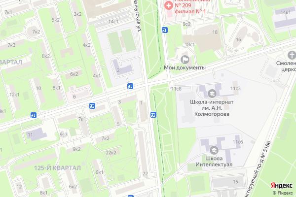 Ремонт телевизоров Улица Кременчугская на яндекс карте