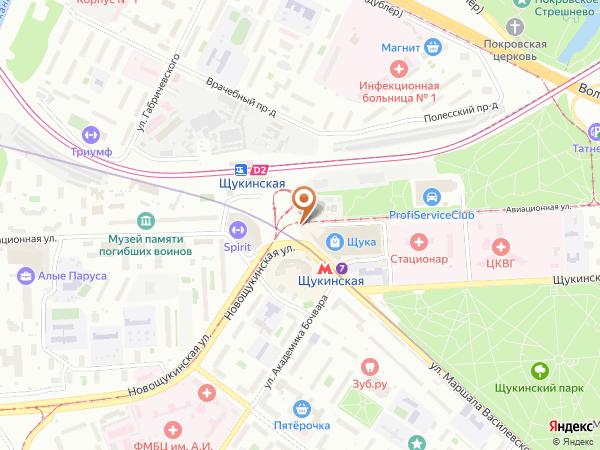 Остановка «Метро Щукинская», Авиационная улица (1119) (Москва)