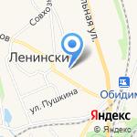 Мировые судьи Ленинского района на карте Ленинского