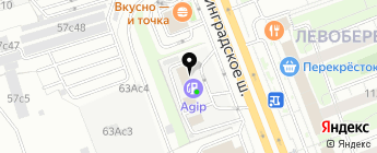 AGIP на карте Москвы