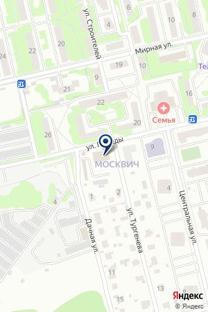 Данила-Мастер на карте Лобни