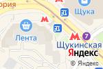 Схема проезда до компании Щукино в Москве
