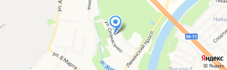 Дубрава НП на карте Химок