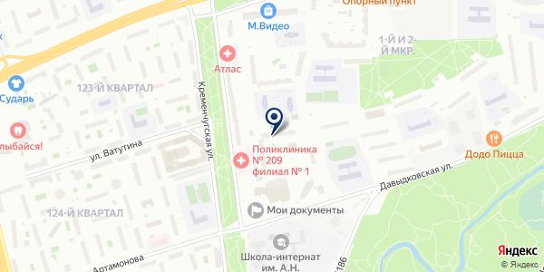 Центр физической культуры и спорта Западного административного округа на карте Москве