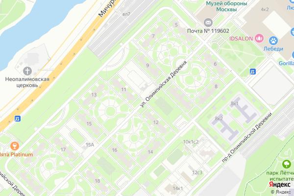 Ремонт телевизоров Улица Олимпийская Деревня на яндекс карте