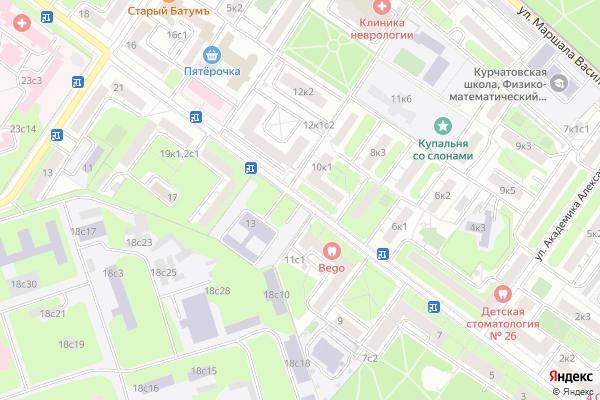 Ремонт телевизоров Улица Маршала Новикова на яндекс карте