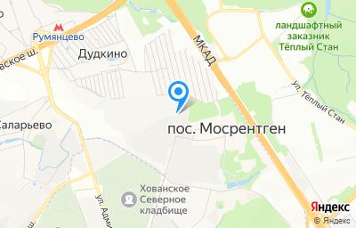 Местоположение на карте пункта техосмотра по адресу г Москва, Мосрентген п, п завода Мосрентген, д 189/1