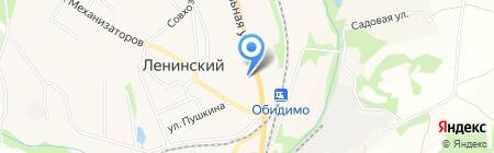 Ленинская средняя общеобразовательная школа №1 им. П.С. Борисова на карте Барсуков
