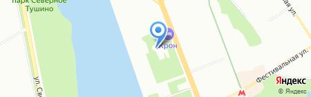 Московское речное пароходство на карте Москвы
