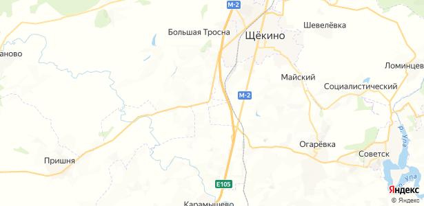 Хутор Озерки на карте