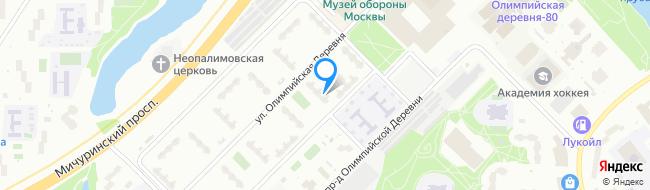 Олимпийская Мичуринский Проспект Деревня