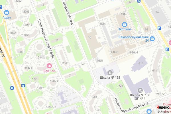 Ремонт телевизоров Валдайский проезд на яндекс карте