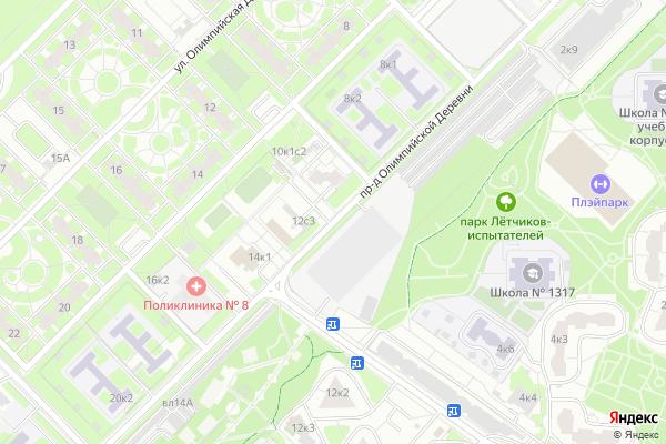Ремонт телевизоров Олимпийской Деревни проезд на яндекс карте