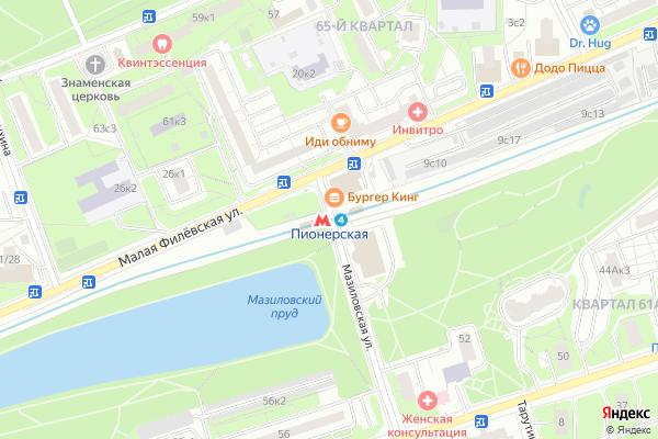 Ремонт телевизоров Метро Пионерская на яндекс карте