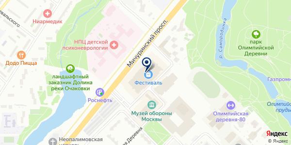 Визор на карте Москве