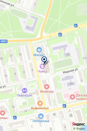 ДК ЧАЙКА на карте Лобни