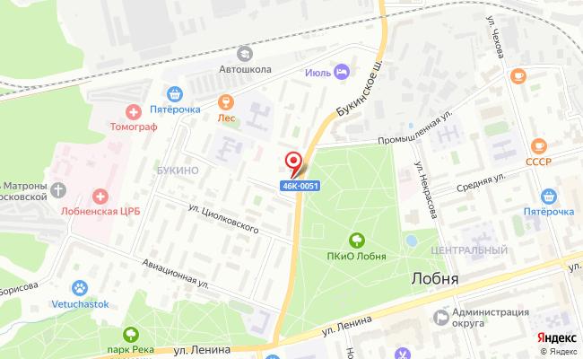 Карта расположения пункта доставки Халва в городе Лобня