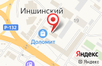 Схема проезда до компании Служба грузоперевозок в Иншинском