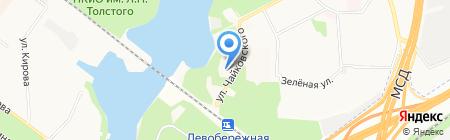 Левобережная дубрава на карте Химок