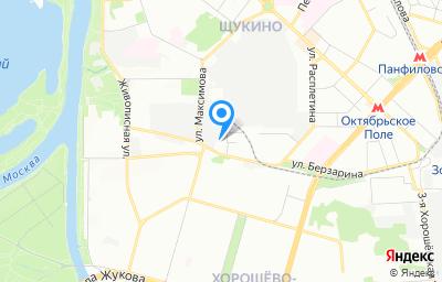Местоположение на карте пункта техосмотра по адресу г Москва, ул Берзарина, д 34 стр 34