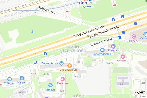 Ремонт телевизоров Район Фили Давыдково на яндекс карте