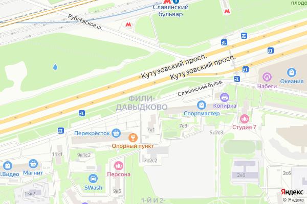 Ремонт телевизоров Славянский бульвар на яндекс карте