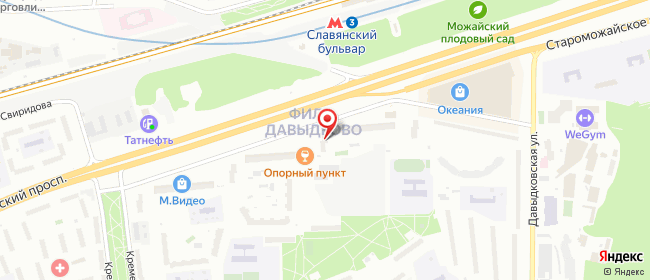 Карта расположения пункта доставки Москва Славянский в городе Москва