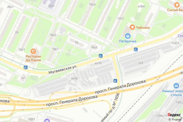 Ремонт телевизоров Улица Матвеевская на яндекс карте