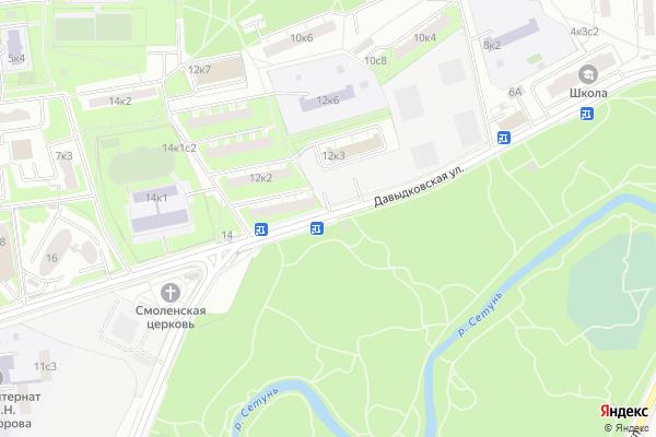 Ремонт телевизоров Улица Давыдковская на яндекс карте