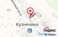 Схема проезда до компании Участковый пункт полиции в Кузнечиках