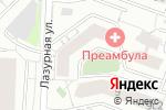 Схема проезда до компании Минимаркет на Лазурной в Москве