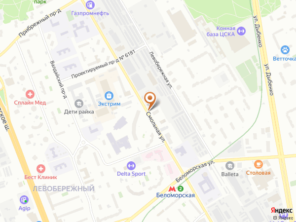 Остановка Смольная ул., 61 в Москве