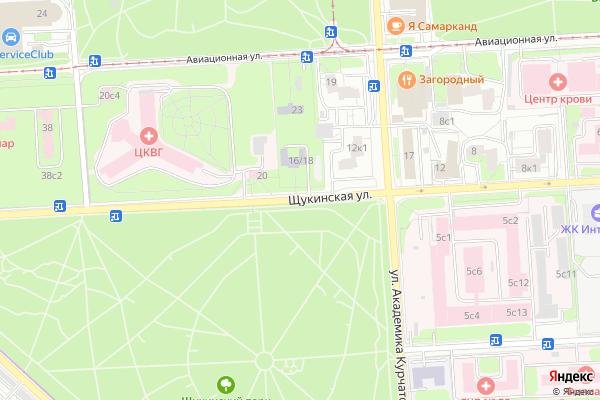 Ремонт телевизоров Улица Щукинская на яндекс карте
