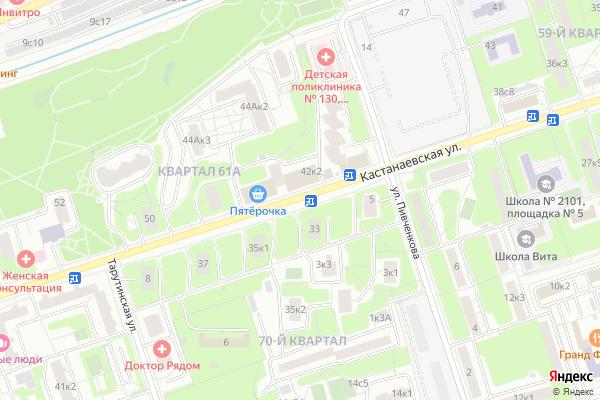 Ремонт телевизоров Улица Кастанаевская на яндекс карте