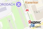 Схема проезда до компании Гама в Москве