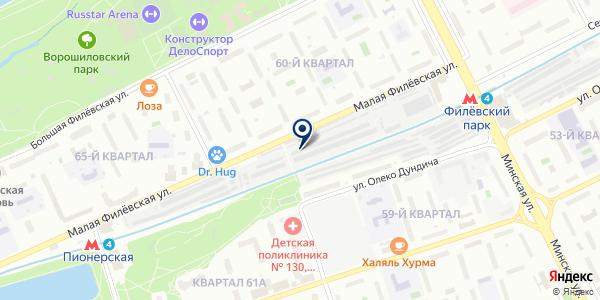 Волокуша на карте Москве