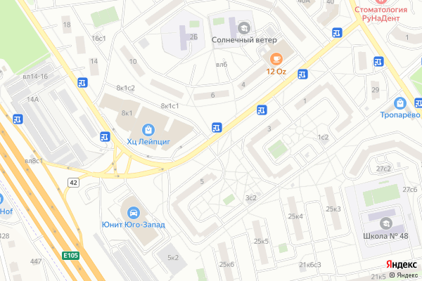 Ремонт телевизоров Улица Академика Варги на яндекс карте