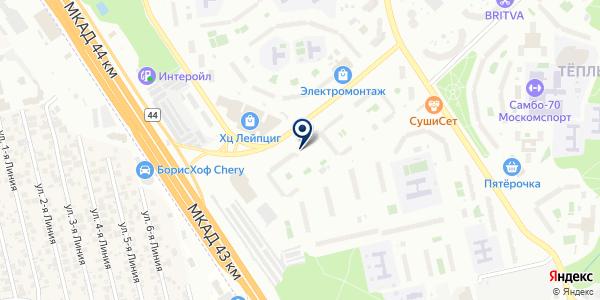 АВТОДОМ на карте Москве