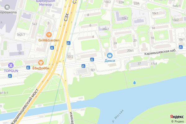 Ремонт телевизоров Карамышевская набережная на яндекс карте