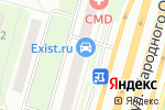 Схема проезда до компании EXIST в Москве
