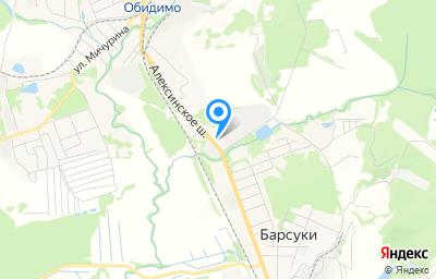 Местоположение на карте пункта техосмотра по адресу Тульская обл, рп Ленинский, ул Циолковского, д 91