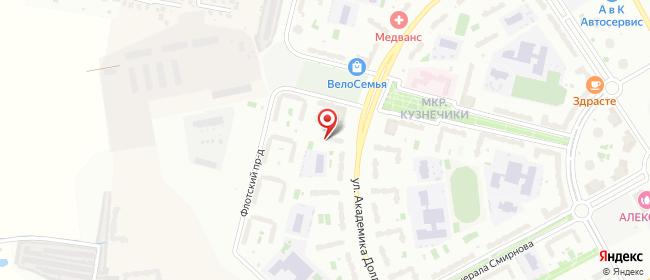 Карта расположения пункта доставки ПВЗ-Подолье в городе Подольск