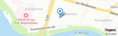 Средняя общеобразовательная школа №1010 с дошкольным отделением на карте Москвы