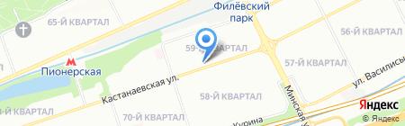 Грация Натальи Навталиевой на карте Москвы