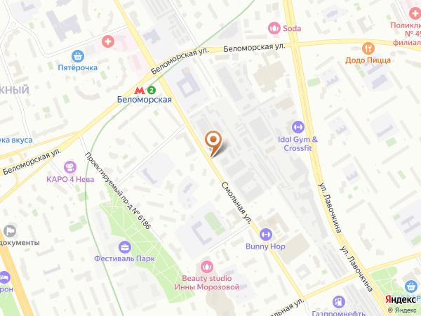 Остановка Смольная ул., 45 в Москве