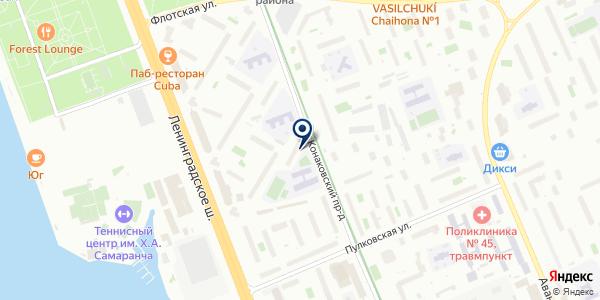 Продуктовый магазин на карте Москве