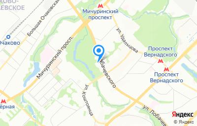Местоположение на карте пункта техосмотра по адресу г Москва, ул Лобачевского, д 19