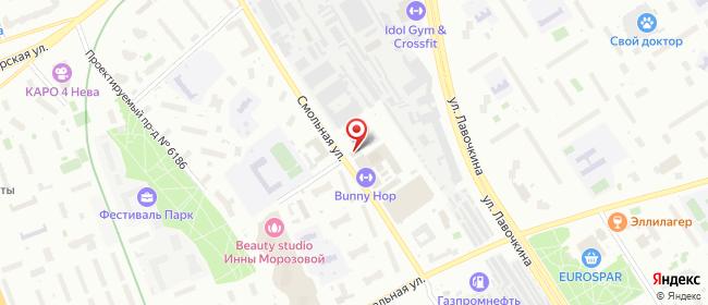 Карта расположения пункта доставки Москва Смольная в городе Москва