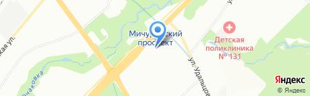 Периметрикс на карте Москвы
